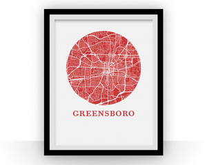 Greensboro Map Print - City Map Poster