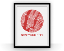 New York City Map Print - City Map Poster