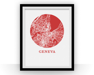 Geneva Map Print - City Map Poster