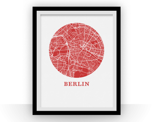 Berlin Map Print - City Map Poster