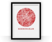 Birmingham Alabama Map Print - City Map Poster