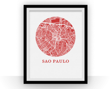 Sao Paulo Map Print - City Map Poster