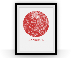 Bangkok Map Print - City Map Poster