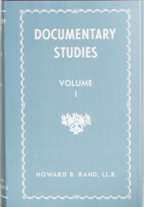 Documentary Studies Vol 1