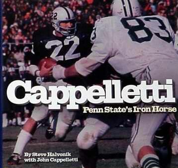 John Cappelletti Hard Cover Iron Horse Book Penn State