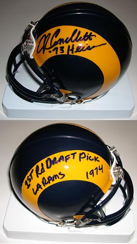 John Cappelletti Autographed Rams Mini Helmet Inscribed