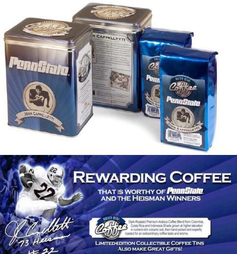 John Cappelletti Collectible Coffee Tin With 2 Fresh Ground 12oz Bags Of Dark Roast Arabica Coffee Penn State