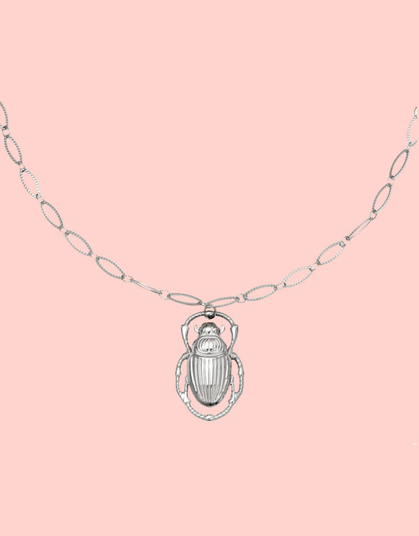 Necklace scarab
