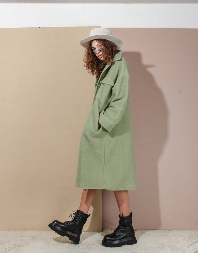 Oversized pocket coat