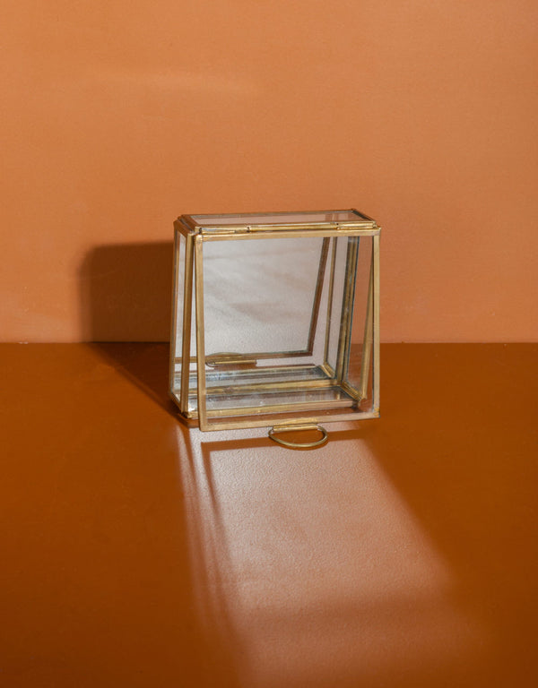 Square brass box