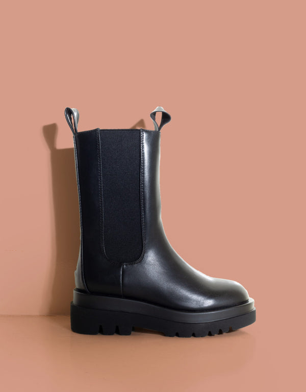Vegan leather chelsea boots