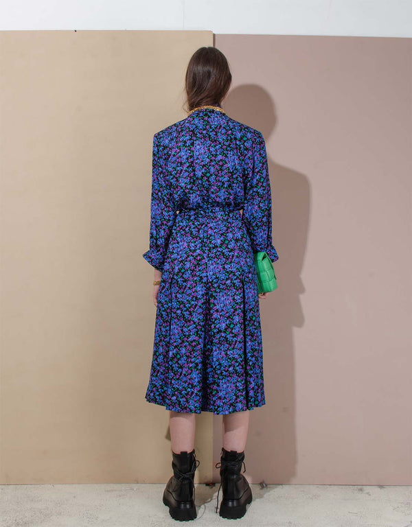Vintage Yves Saint Laurent long floral dress