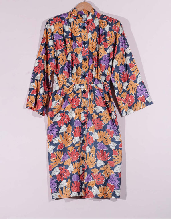 Vintage Yves Saint Laurent autumn leaves dress
