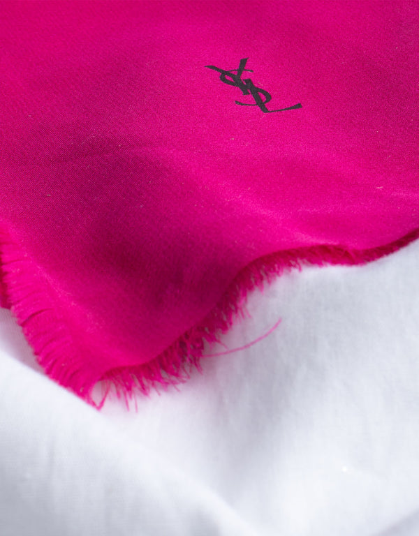 Vintage Yves Saint Laurent silk handkerchief V