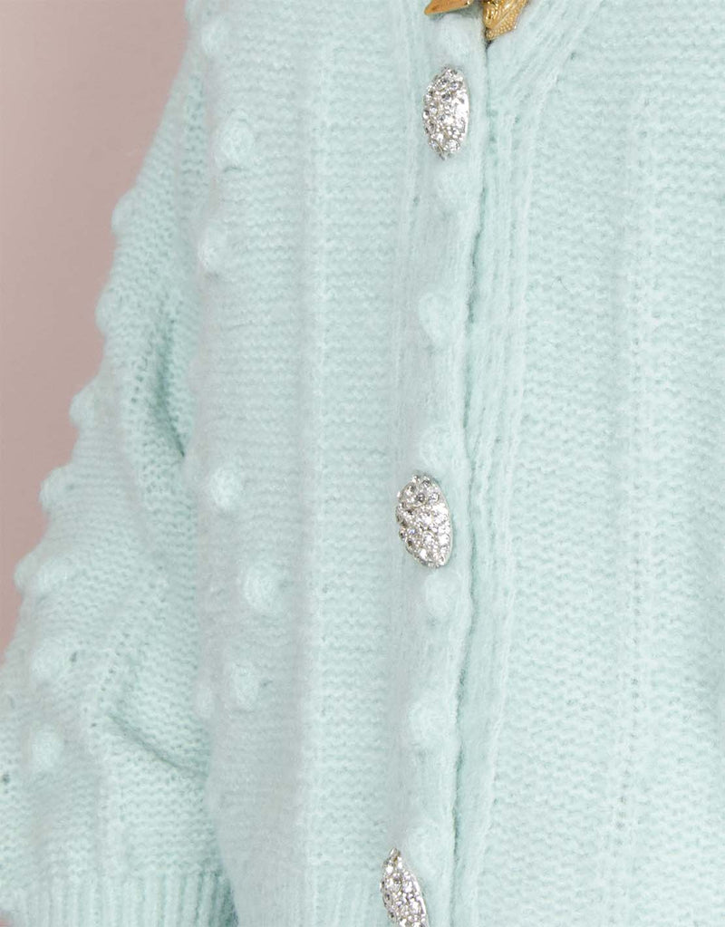 Cardigan strass buttons