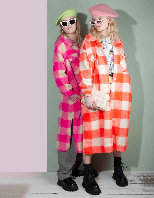 Checkered long coat II