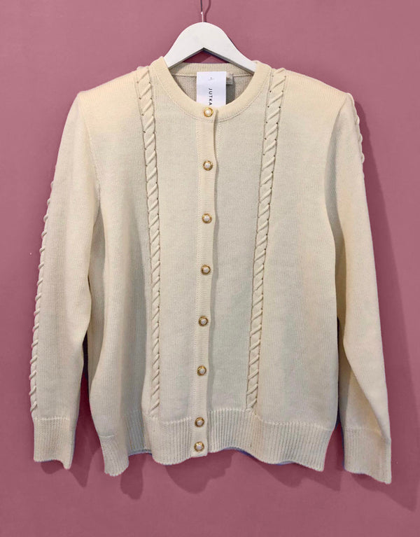 Vintage gold button cardigan