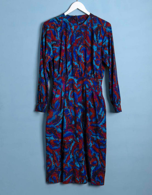 Vintage Yves Saint Laurent back closing dress