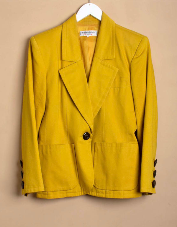 Vintage Yves Saint Laurent one button blazer