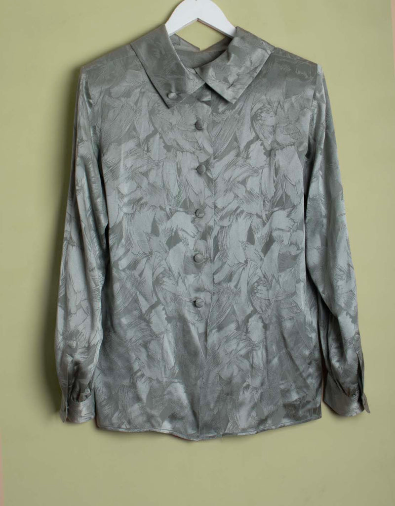 Vintage Yves Saint Laurent shiny blouse