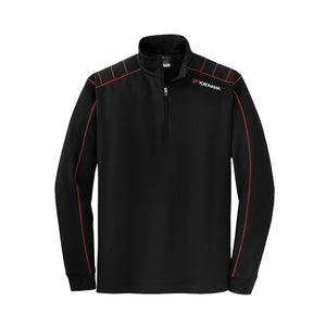 NIKE Dri-FIT 1/2 Zip Cover Up with Contrast Stitching