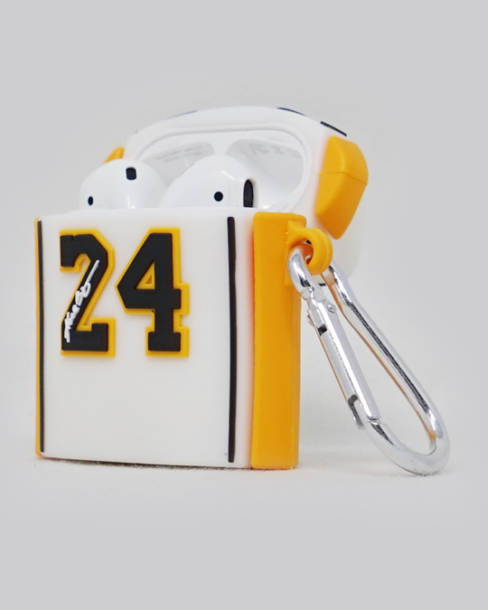 Mamba Lake Show Jersey AirPods Case (White)