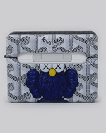 Load image into Gallery viewer, Blue Kaws Elmo Goyard Inspired AirPods Pro Case