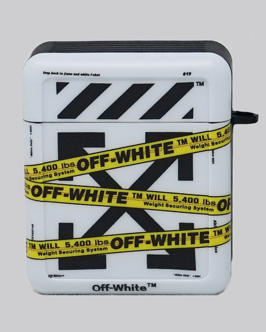 OW Tape (White) AirPods Case