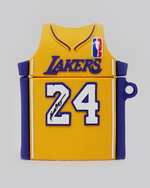 Load image into Gallery viewer, Mamba Lake Show Jersey AirPods Case (Yellow)