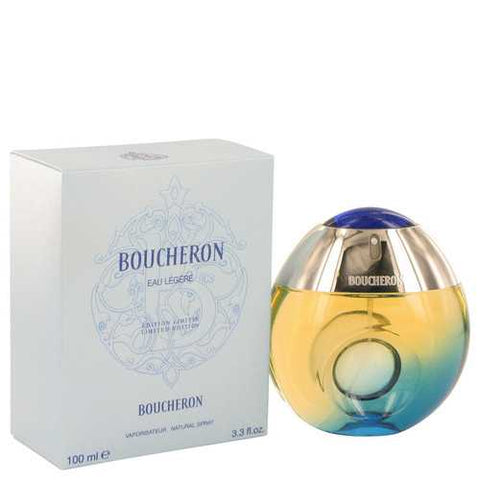 Boucheron Eau Legere by Boucheron Eau De Toilette Spray (Blue Bottle Bergamote Genet Narcisse Musc) 3.3 oz (Women)