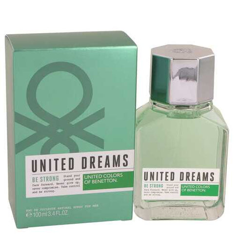 United Dreams Be Strong by Benetton Eau De Toilette Spray 3.4 oz (Men)