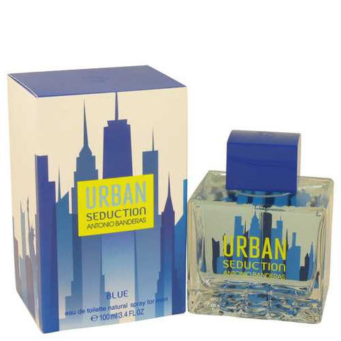 Urban Seduction Blue by Antonio Banderas Eau De Toilette Spray 3.4 oz (Men)