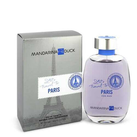 Mandarina Duck Let's Travel to Paris by Mandarina Duck Eau De Toilette Spray 3.4 oz (Men)