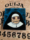 Free USA Shipping Original painting on canvas 4x4 weird stitches nun