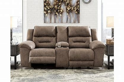 Stoneland Signature Design by Ashley DBL REC PWR Loveseat wConsole