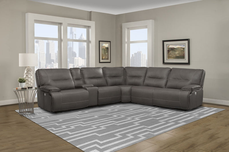 Spartacus Haze 6-pc Reclining Sectional by Parker House