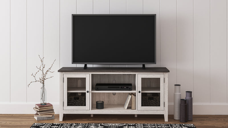 Dorrinson Signature Design by Ashley LG TV Stand wFireplace Option