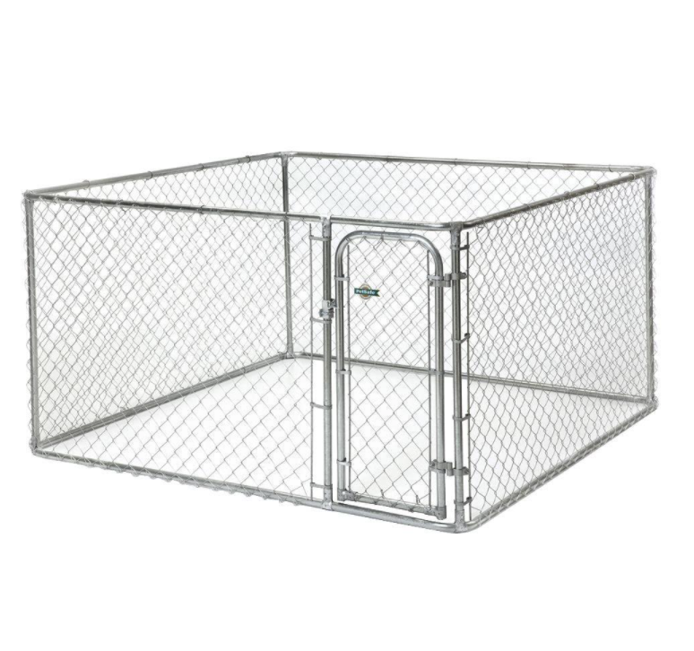 Fencemaster 7.5 ft. x 7.5 ft. x 4 ft. Chain Link Dog Kennel