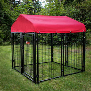 Lucky Dog Pet Resort Kennel With Sunbrella Canopy Cover - 2 Color Choices