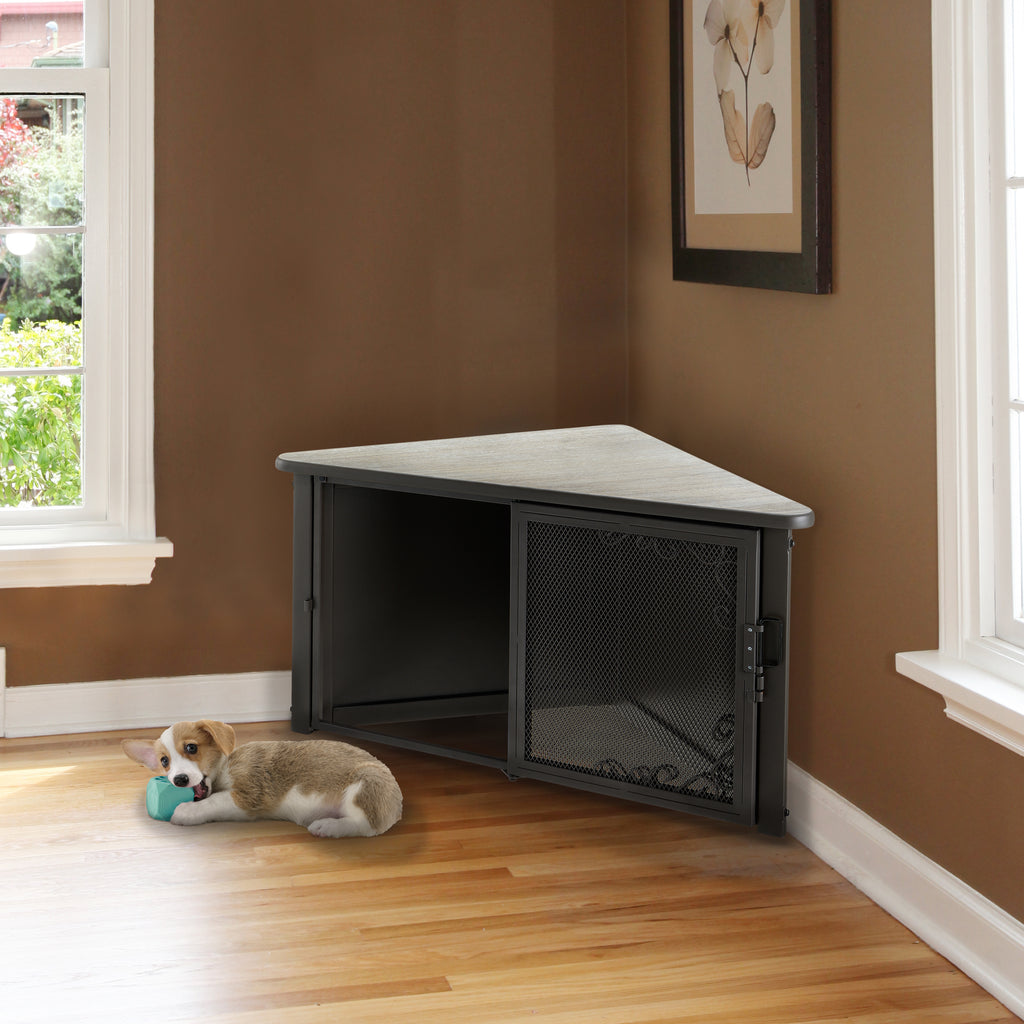 Richell Accent Corner Table Pet Crate - 2 Sizes