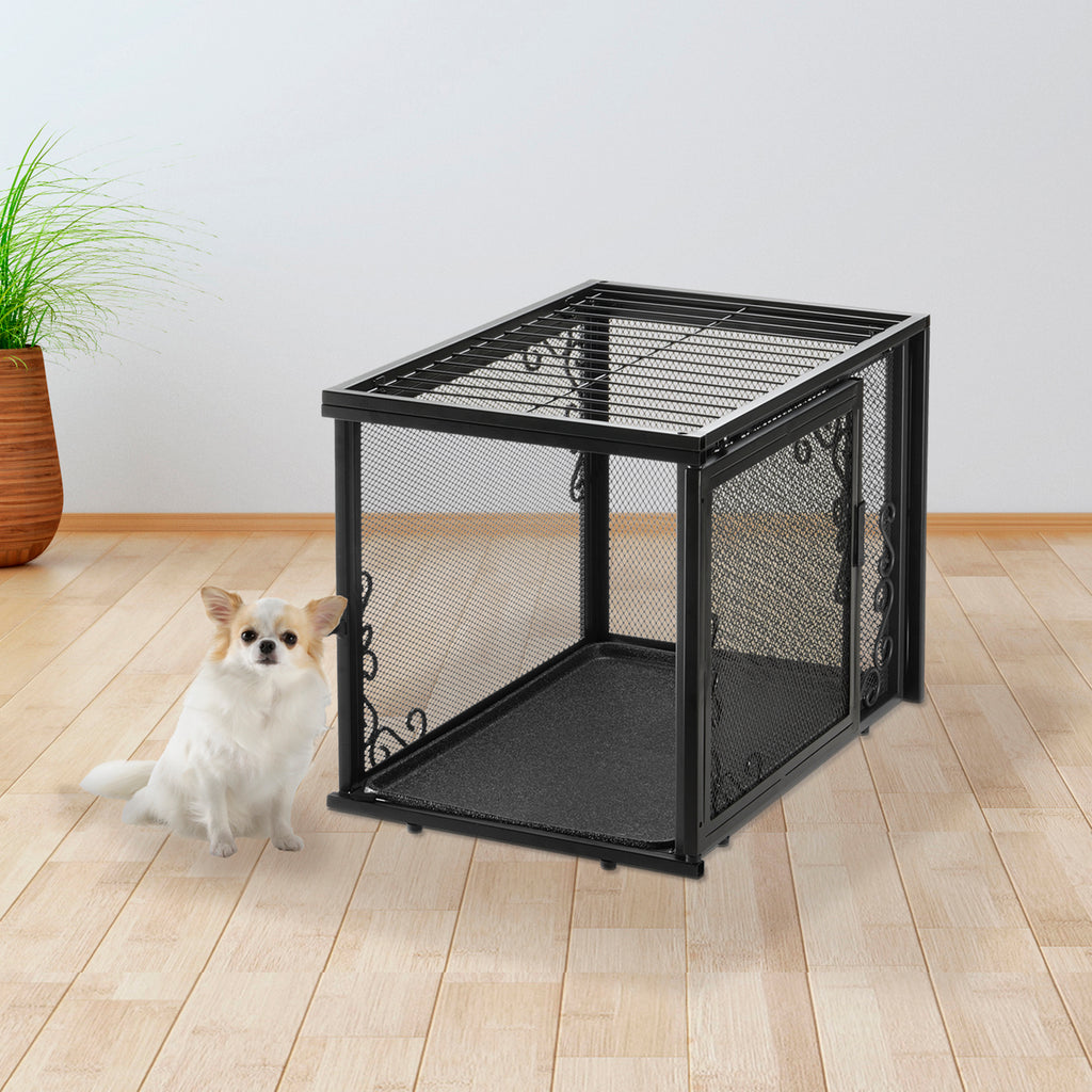 Richell Small Metal Mesh Pet Crate - 2 Colors