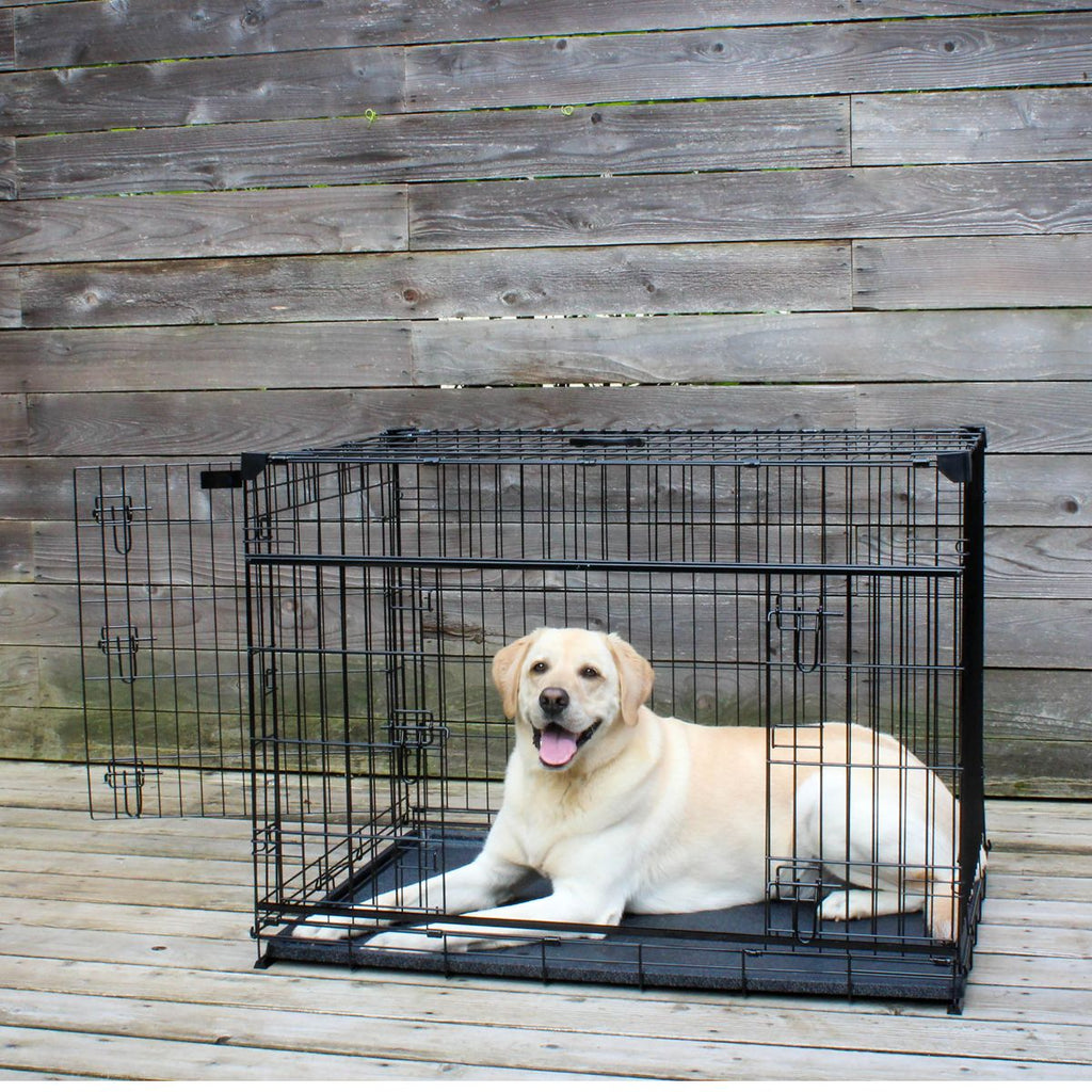 "Lucky Dog 42"" Slyder™ Crate with Sliding Side Door"