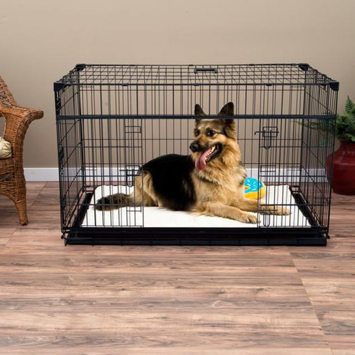 "Lucky Dog 48"" Slyder™ Crate with Sliding Side Door"