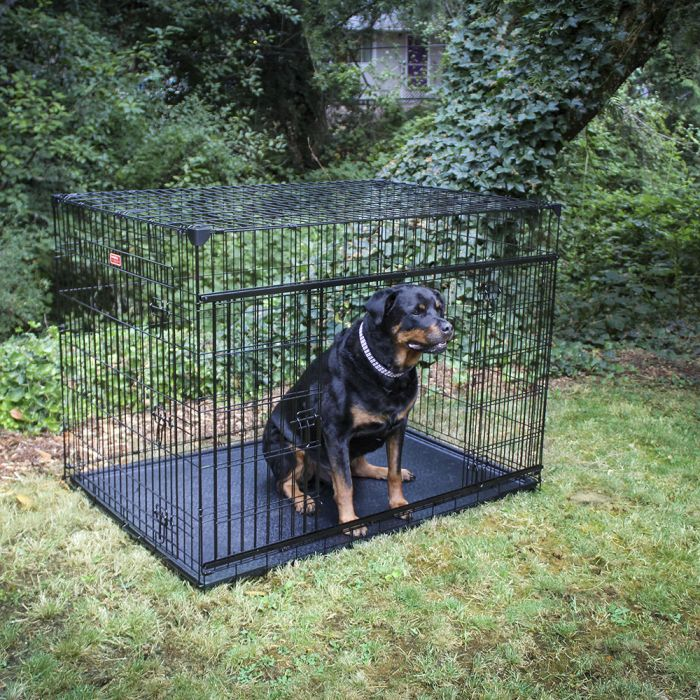 "Lucky Dog 54"" Slyder™ Crate with Sliding Side Door"