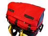 Red Ostrom Winisk Canoe Pack, Portage Pack lid zippered pocket top view, Canada, image.