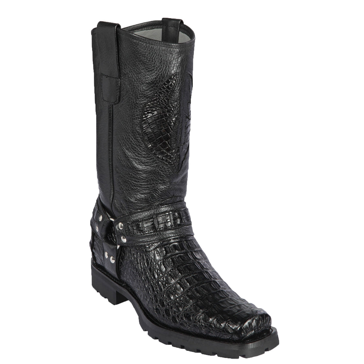 Smooth Caiman Skin Biker Boot LAB-55T17