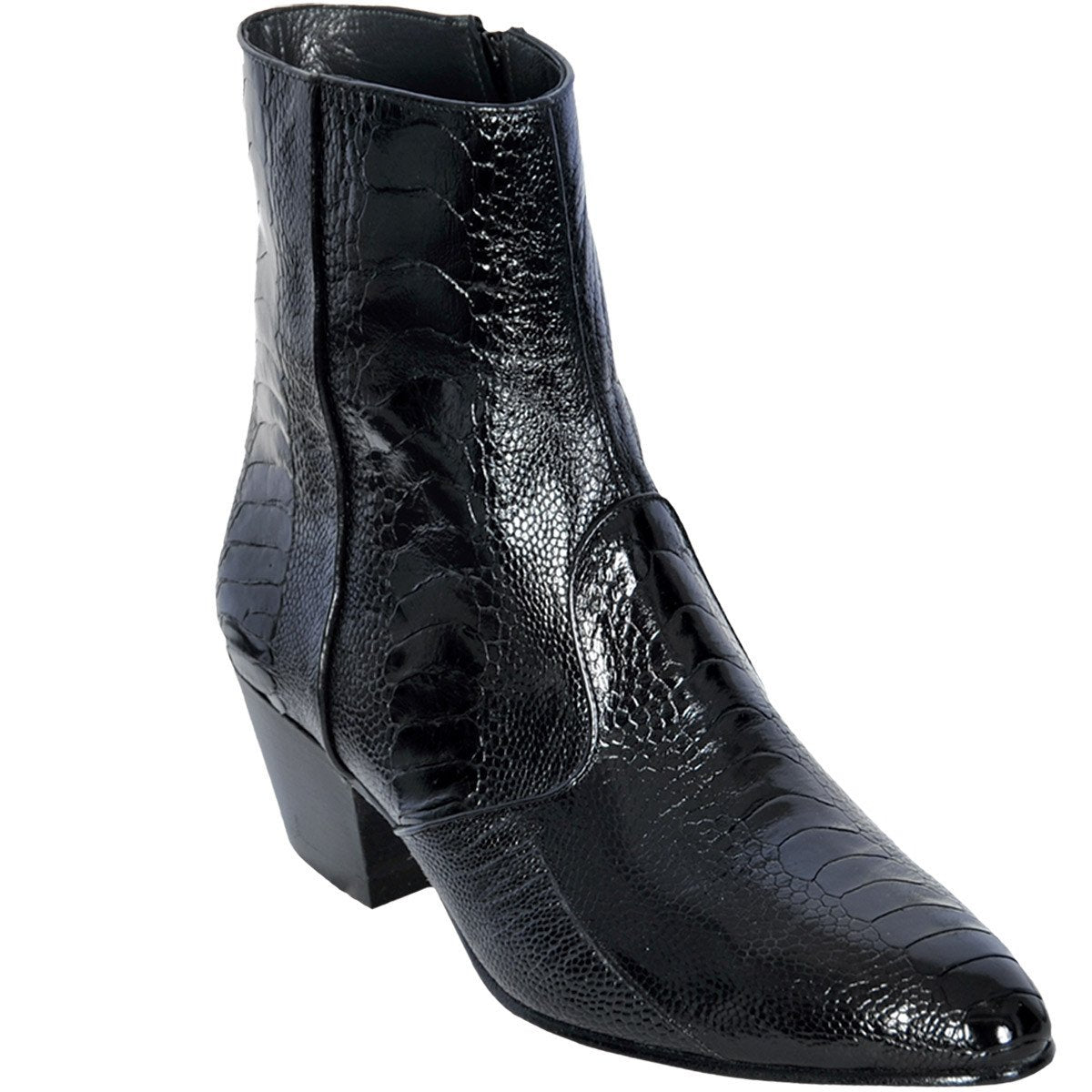 Ostrich Leg Skin Ankle Boot LAB-6305