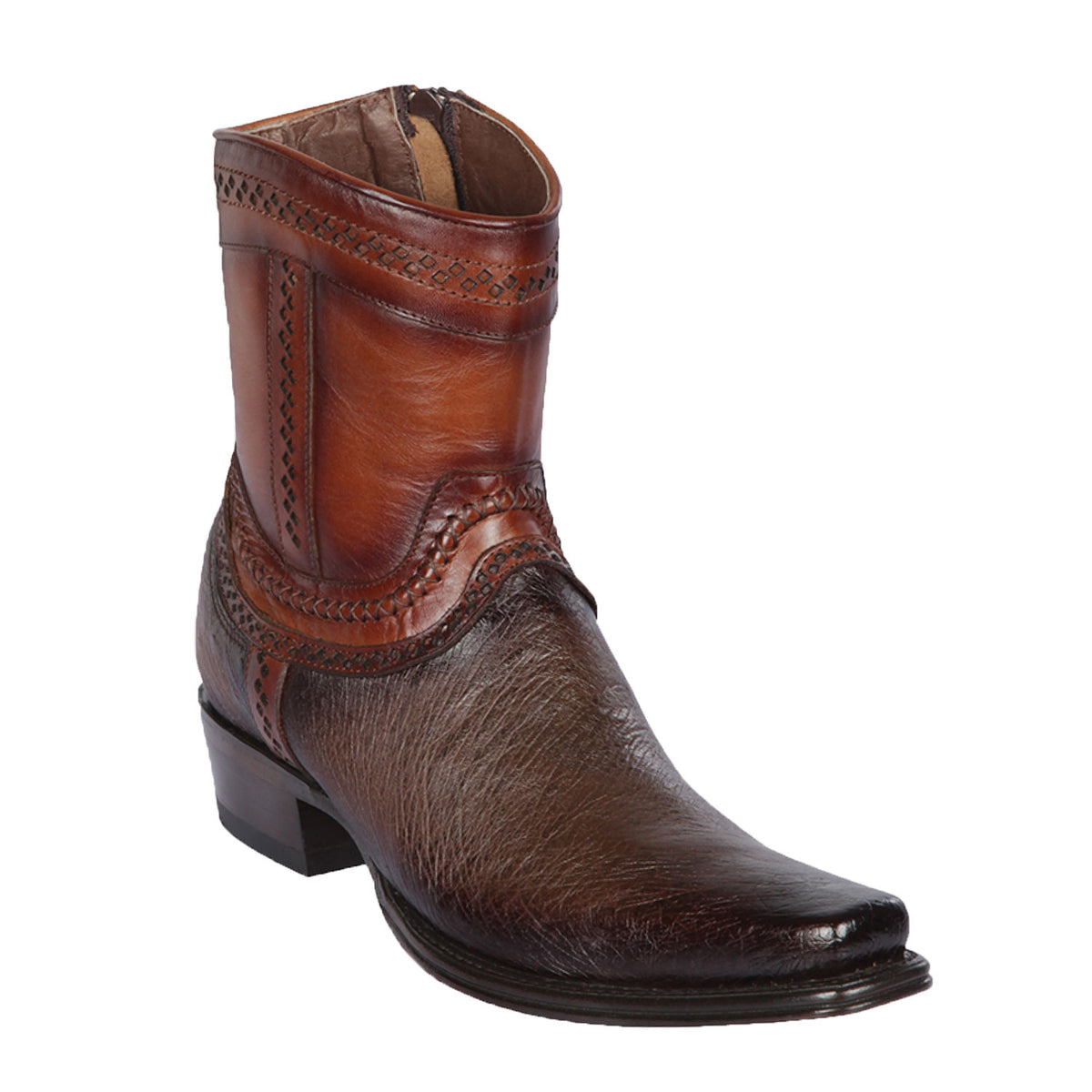 Smooth Ostrich Skin  Short Boot LAB-76B97
