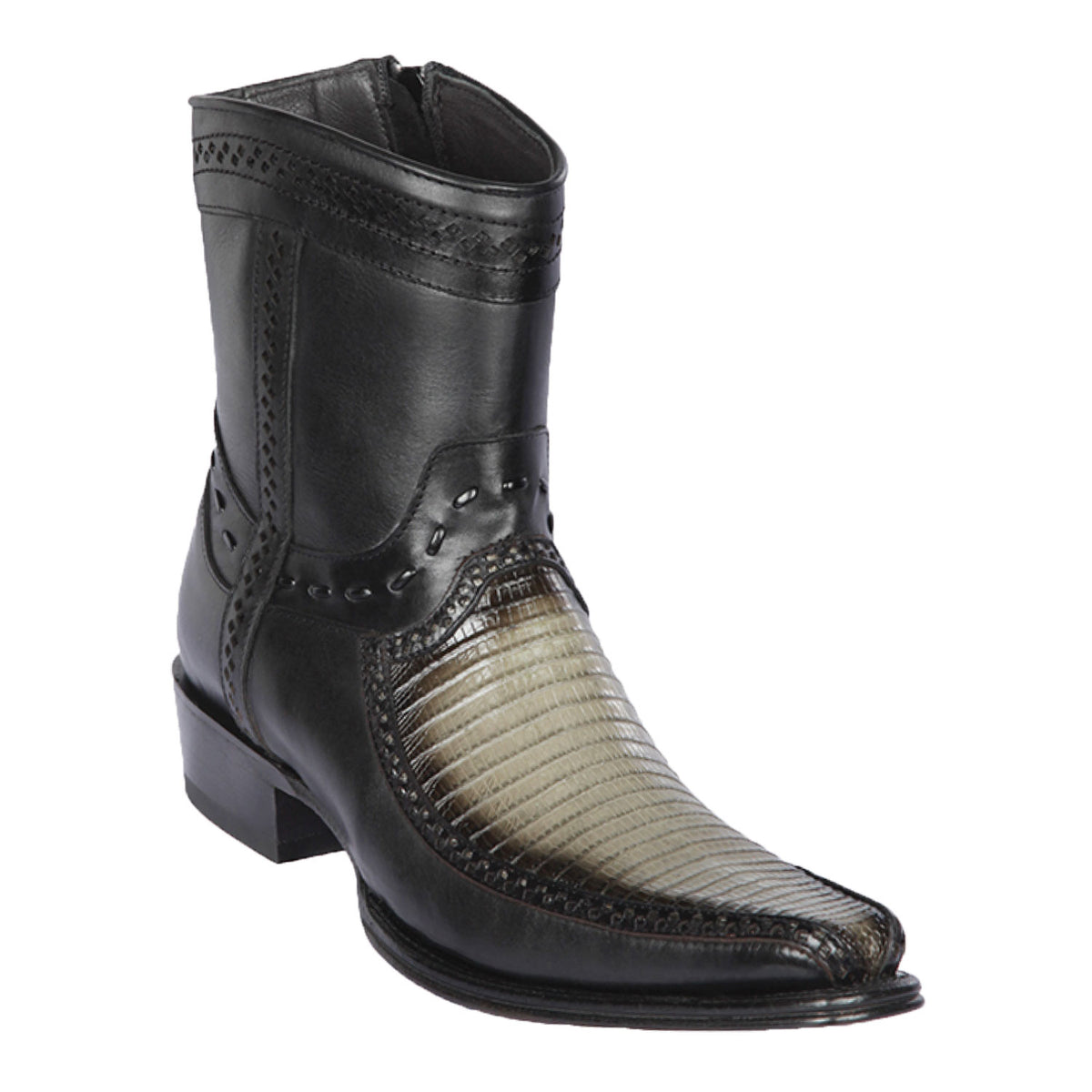 Lizard & Deer Skin Short Boot LAB-76BF07