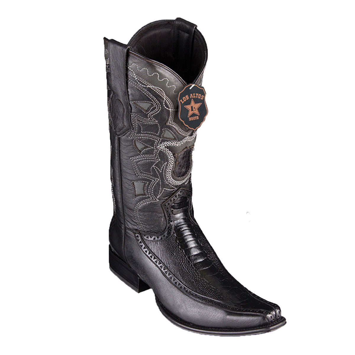 Ostrich Leg & Deer Skin Boot LAB-76F05